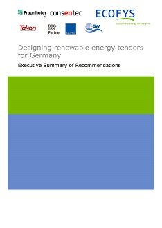 Cover Designing renewable energy tenders for Germany