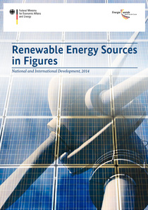 "Cover des Flyers ""Renewable Energy Sources in Figures 2014"""